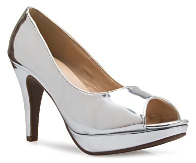 Women's Sexy Open Toe High Heel Pumps - Basic Comfortable