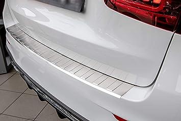 Aroba Ar11782 Br Edelstahl Gebürstet Ladekantenschutz Kompatibel Für Glc Auch Für Amg Facelift Ab Bj 07 2019 Passgenau Mit Abkantung Farbe Silber Auto