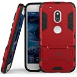 Moto G4 Play Case, Moto G Play (4th Gen.) case CoverON [Shadow Armor Series] Hard Slim Hybrid Kickstand Phone Cover Case for Motorola Moto G4 Play / Moto G Play (4th Gen.)- Red