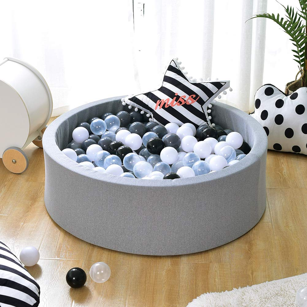 Triclicks Deluxe Kids Ball Pit Kiddie Balls Pool Soft Baby Playpen Indoor & Outdoor - Ideal Gift Play Toy for Children Toddler Infant Boys & Girls - 90 x 30cm by Triclicks (Image #1)