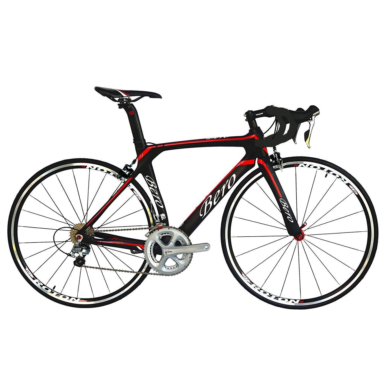 BEIOU/® 700C Rennrad Shimano 105 Bike 5800 2 11S Rennrad T800-M40 Carbon Aero-Rahmen Ultra-Light 18.3lbs Upgrade auf Shimano 105 Kurbelgarnitur CB013A-2