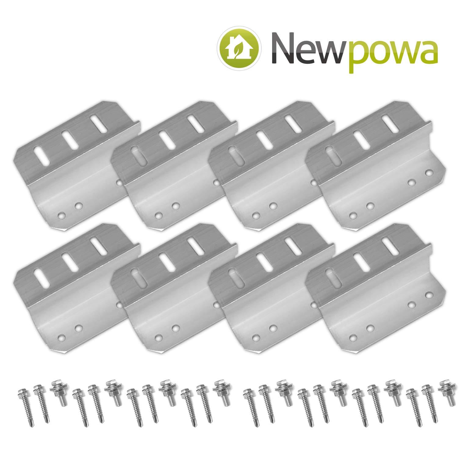 Newpowa 2sets Solar Panel Mounting Bracket Universal Flat Mounts Z Roof Wall by Newpowa