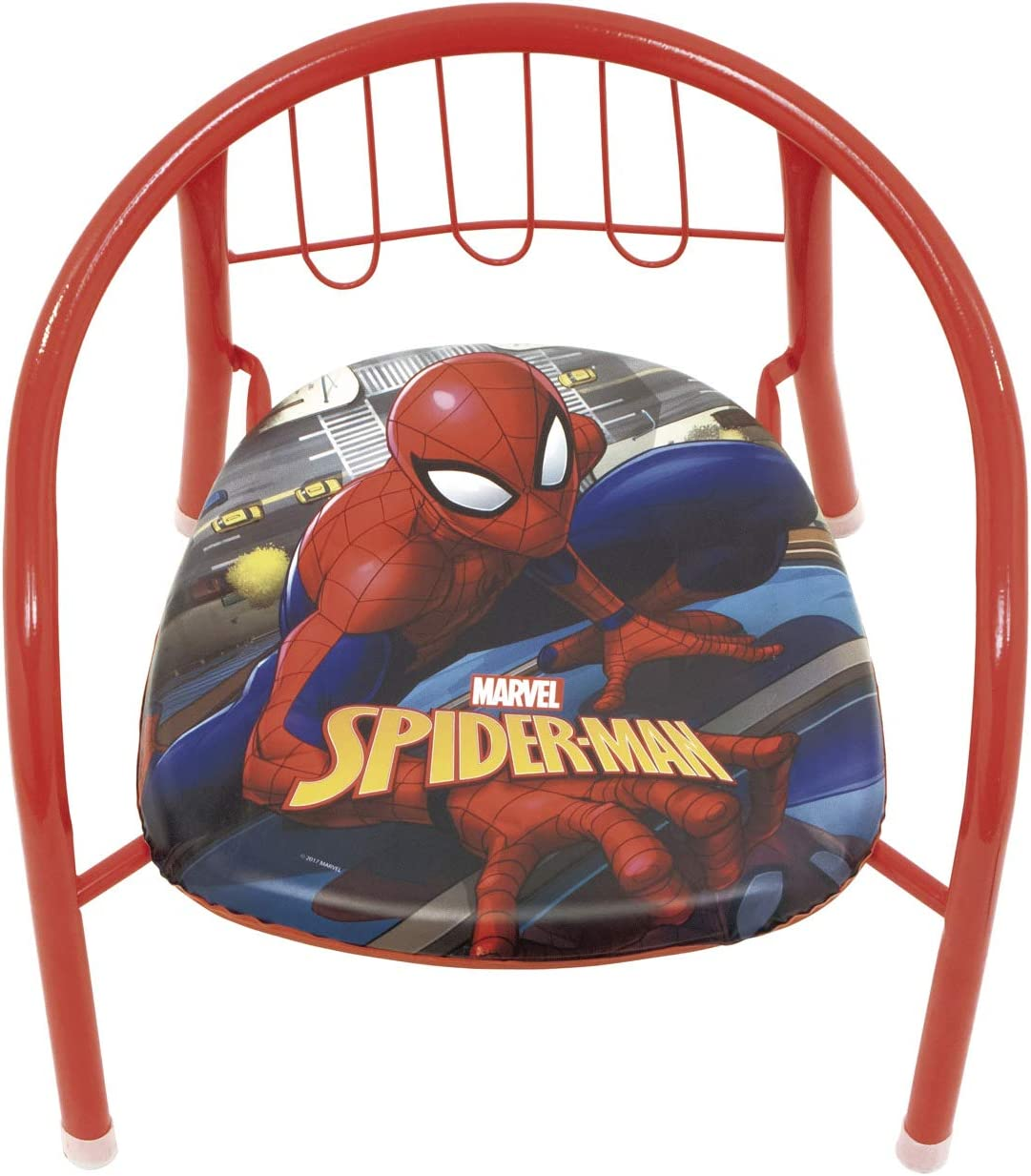 ARDITEX SM11590 Silla de Metal de 35.5x30x33.5cm de Marvel-Spiderman