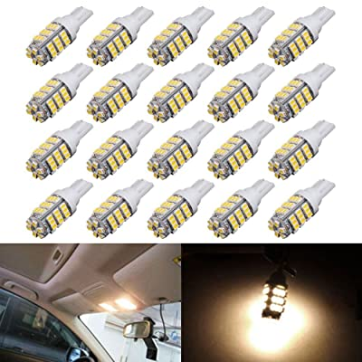 AUTOUS90 20 x RV Trailer T10 921 194 168 2825 42-SMD 12V Backup Reverse LED Warm White Lights Bulbs: Automotive