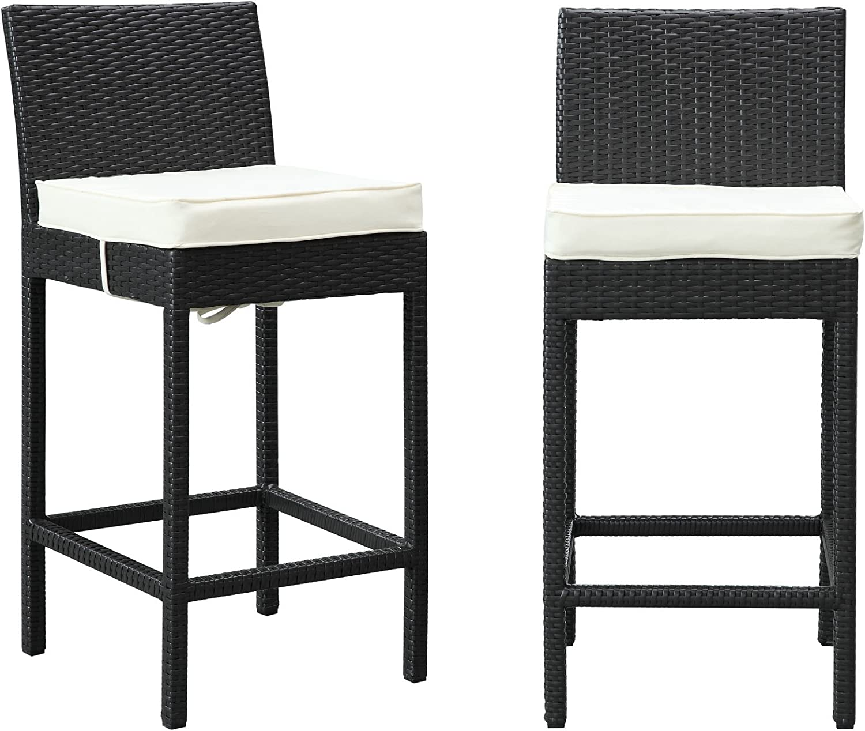 Modway LexMod Lift Patio Chair Bar Stools, Set of 2
