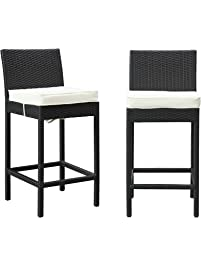 Captivating LexMod Lift Patio Chair Bar Stools, Set Of 2