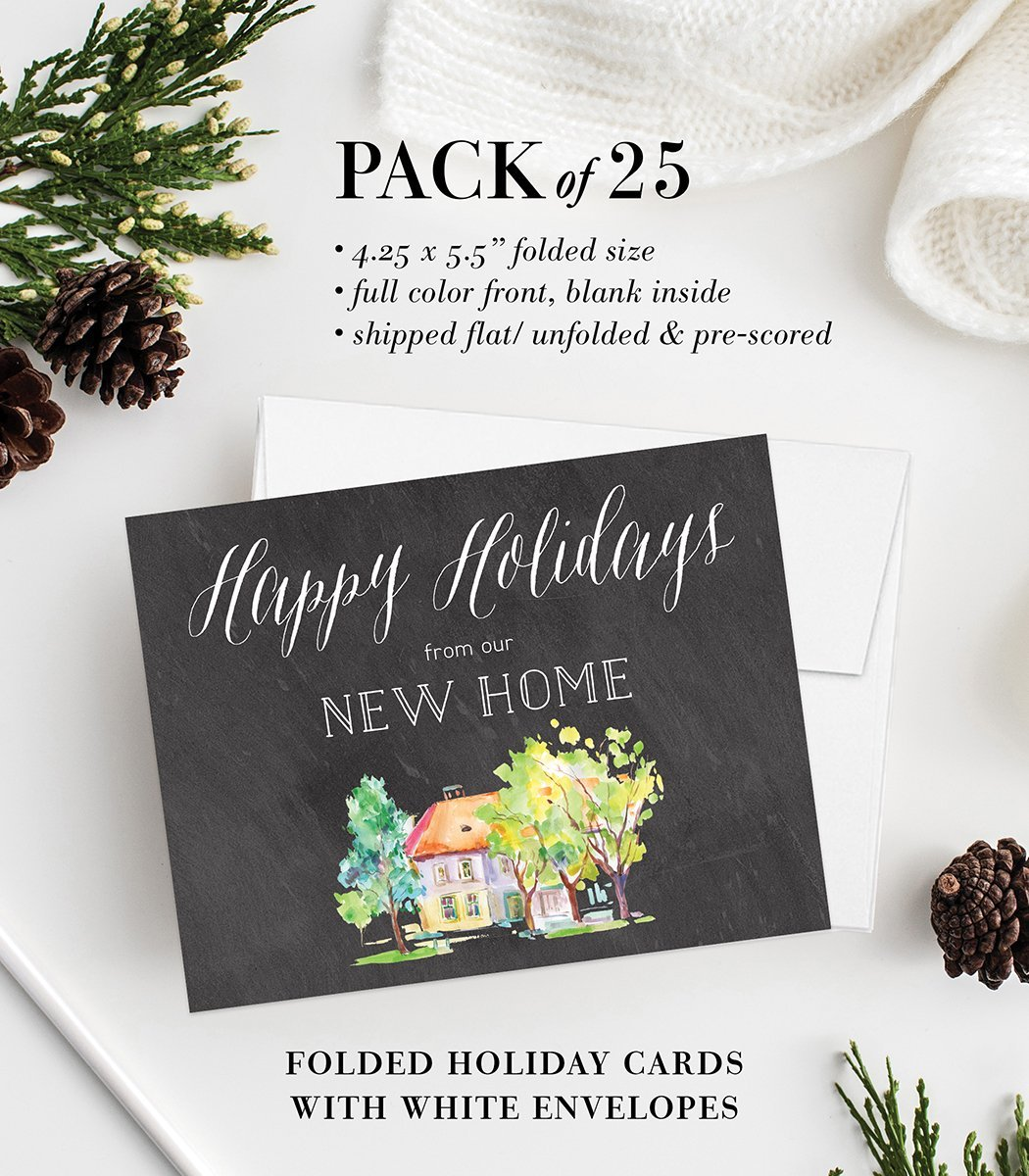 Amazon.com: New Home Christmas Greeting Cards with Envelopes (Set of ...