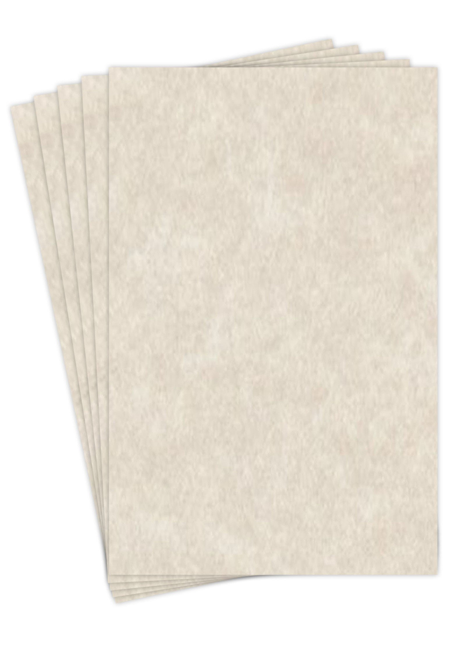 11 X 17 Stationery Parchment Recycled Paper 65lb. Cover Cardstock - 50 Sheets Per Pack (Natural Cream)