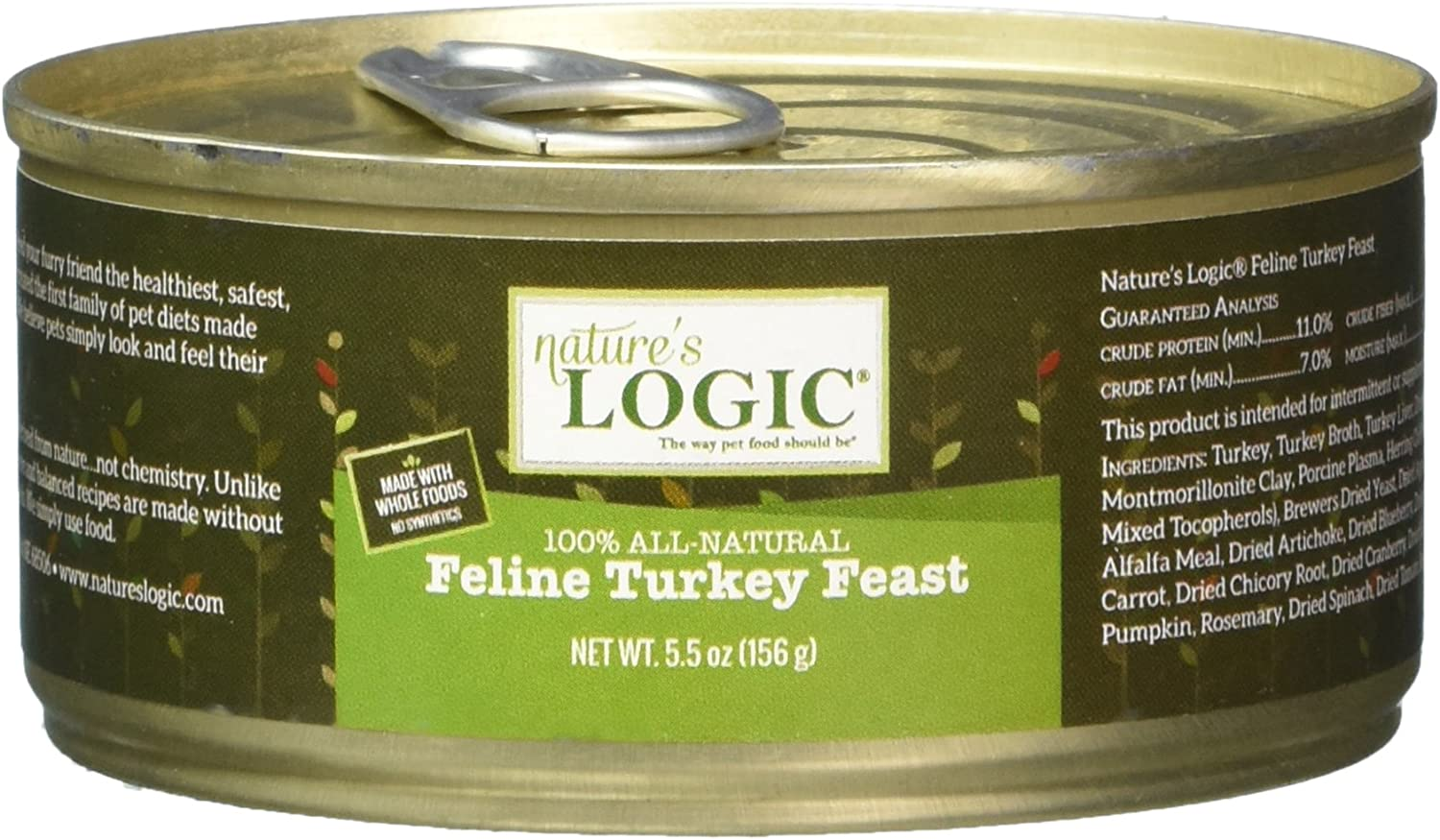 Nature'S Logic 24 Count Feline Turkey Canned Food, 24-5.5 Oz