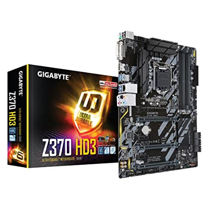 Gigabyte Z370 HD3 Intel Socket Chipset - Placa base, Negro