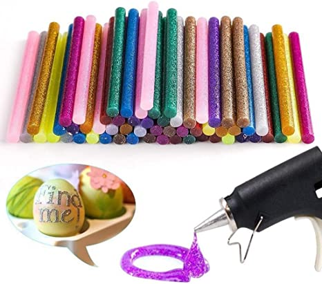 60pcs 7mm Colorful Top Glue Gun Sticks Hot Melt Glue Stick Rod For DIY Art Craft