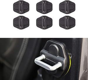Voodonala for JL Door Lock Cover Buckle Decor Trim for 2018 2019 Jeep Wrangler JL JLU 2020 Gladiator JT ABS 6PCS
