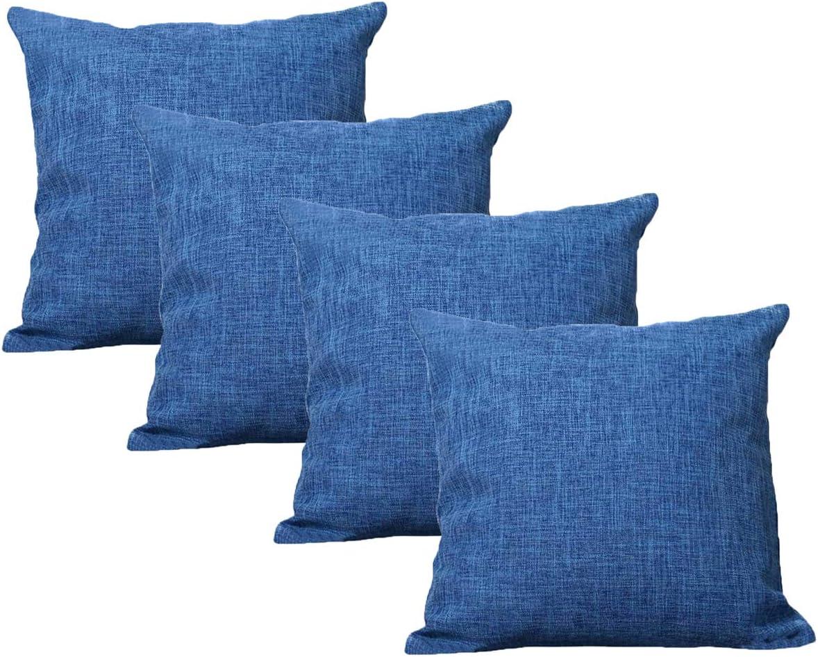 UNIAI 4 Pack Throw Pillow Cover 55X55cm Home Decorative Solid Square Pillowcase: Amazon.es: Hogar