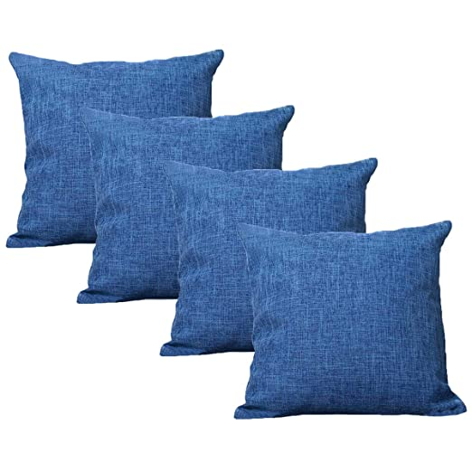 UNIAI 4 Pack Throw Pillow Cover 55X55cm Home Decorative Solid ...