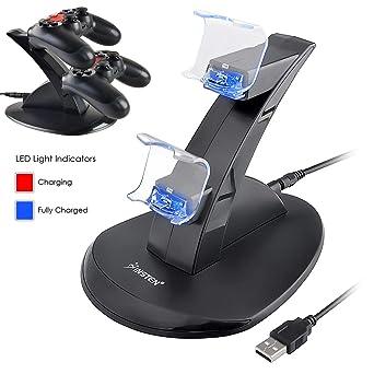 Cargador del control de insten el PS4, controlador USB ...