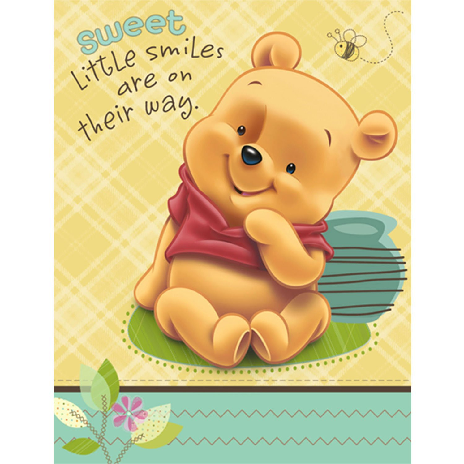 amazon com baby pooh and friends baby shower invitations 8 count rh amazon com Winnie the Pooh Pictures When a Baby Pooh Bear Clip Art