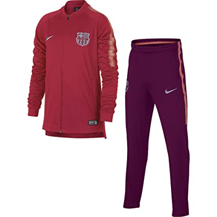 143acd8f4 Image Unavailable. Image not available for. Color  Nike 2018-2019 Barcelona  Squad Knit Tracksuit (Tropical Pink) - Kids