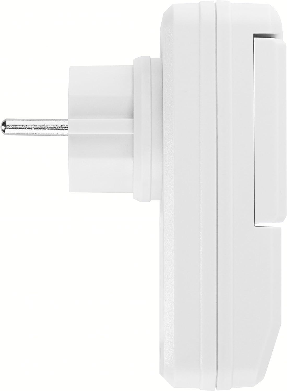 blanc 1100 Watt mumbi 24858 Set de douilles radio-command/ées pour lext/érieur 2x douilles t/él/écommand/ées anti-/éclaboussures, IP44 1x t/él/écommande