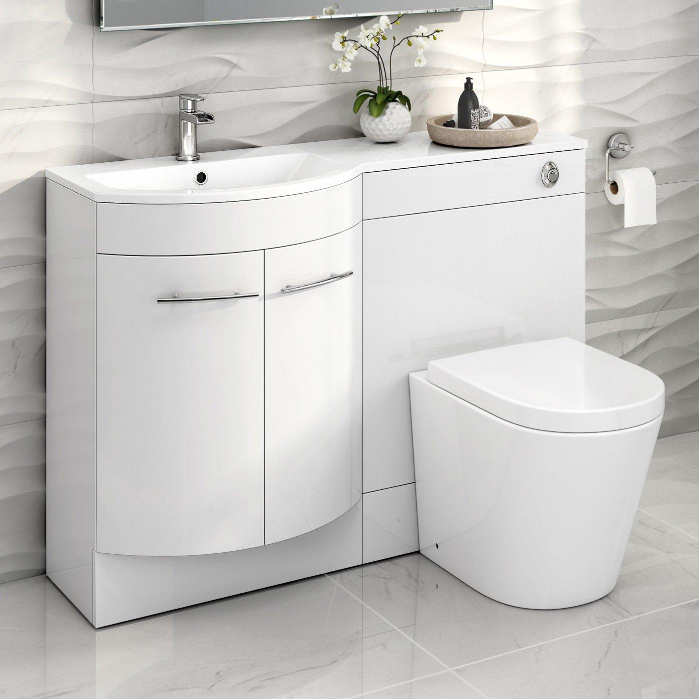 1200 Mm White Vanity Unit Countertop Basin Toilet Bathroom Furniture Set Mv1610 Buy Online In Cayman Islands At Cayman Desertcart Com Productid 54509304