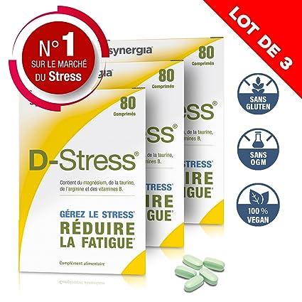 D-Stress - 80 comprimidos - magnesio altamente asimilado, taurina, arginina y vitaminas