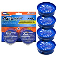 Home Plus Ant Killer (4-Pack), Metal Ant Traps Indoor & Outdoor, Ant Bait Station...