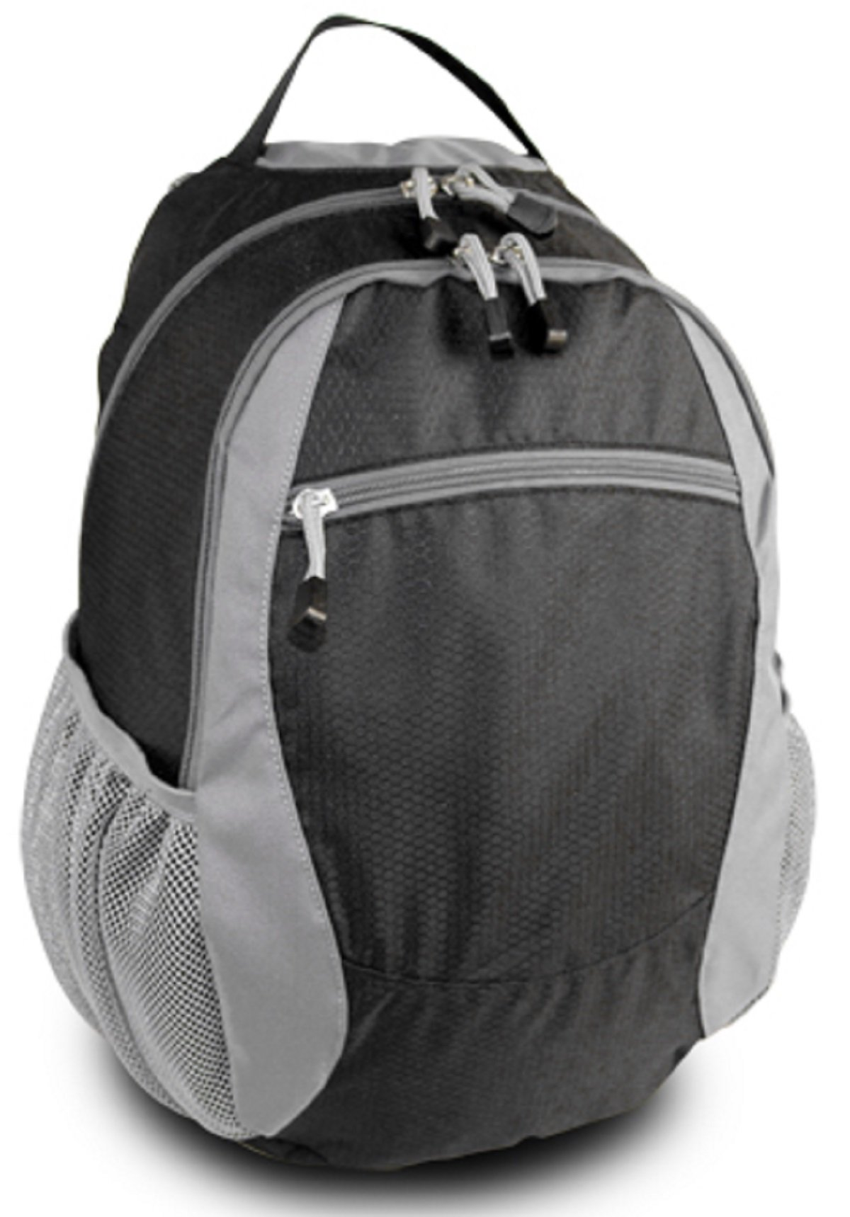 CAMPUS BACKPACK, Black/Gray, Case of 12 by DollarItemDirect