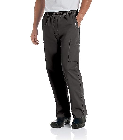 Landau Men's Comfort 7-Pocket Elastic Waist Drawstring Cargo Scrub Pant