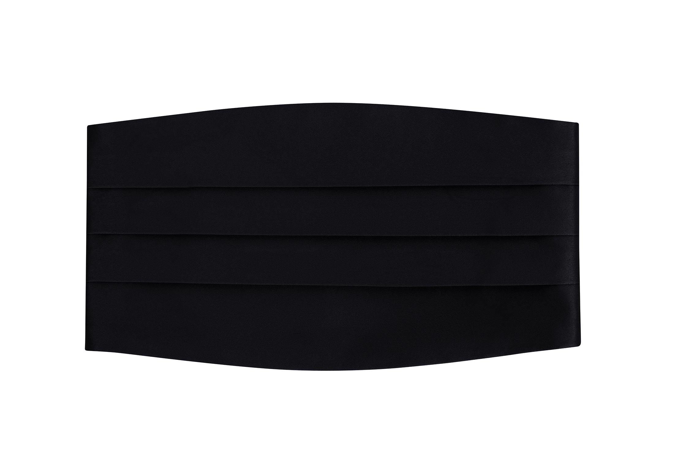 Men's Adjustable Satin Cummerbund- Black