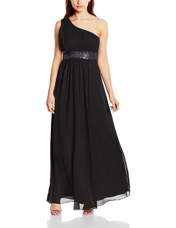 Astrapahl Damen Kleid One Shoulder mit Pailletten, Maxi: Amazon.de ...