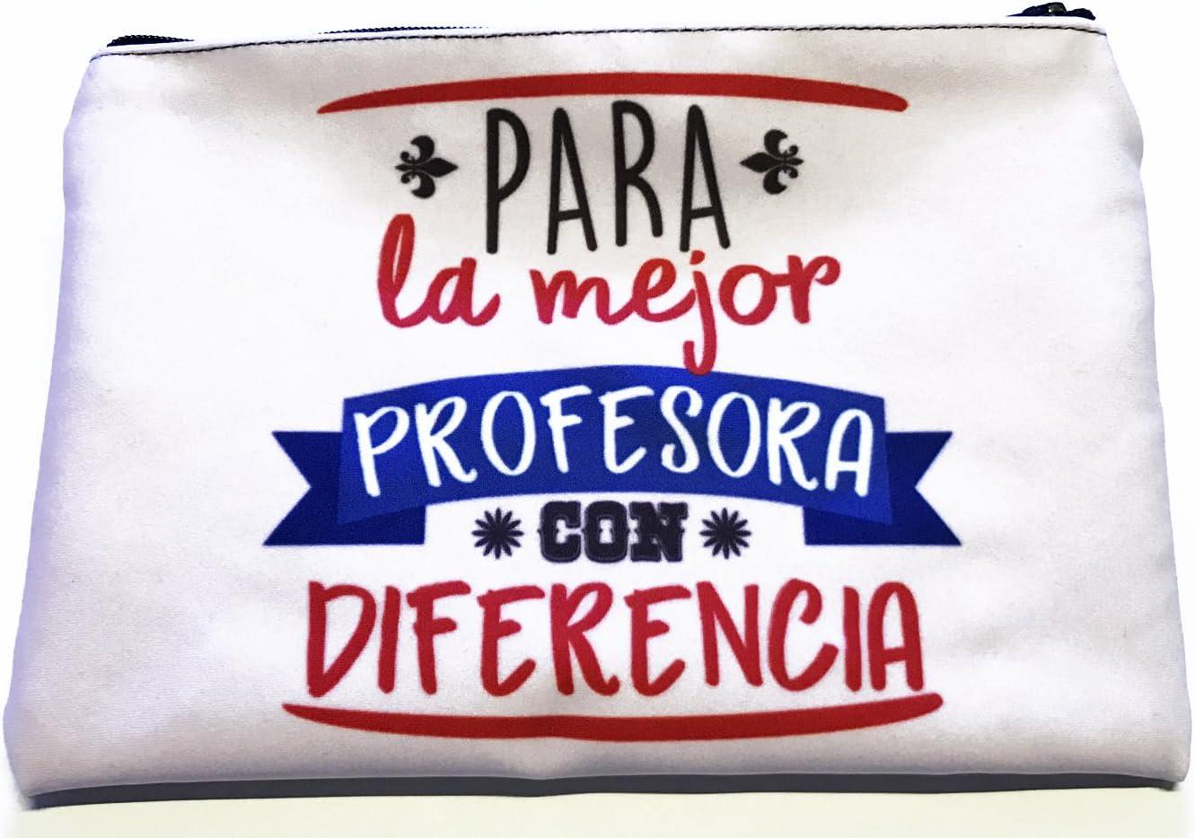 LInformal Neceser para la Mejor Profesora con Diferencia: Amazon.es: Hogar
