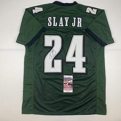 Autographed/Signed Darius Slay Jr. Philadelphia Green Football ...