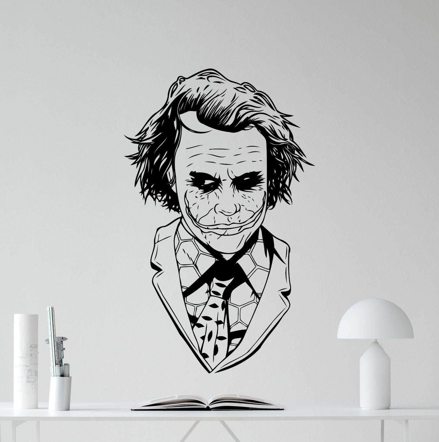 Amazon com joker wall decal superhero vinyl sticker why so serious marvel comics wall art design housewares kids room bedroom decor removable wall mural