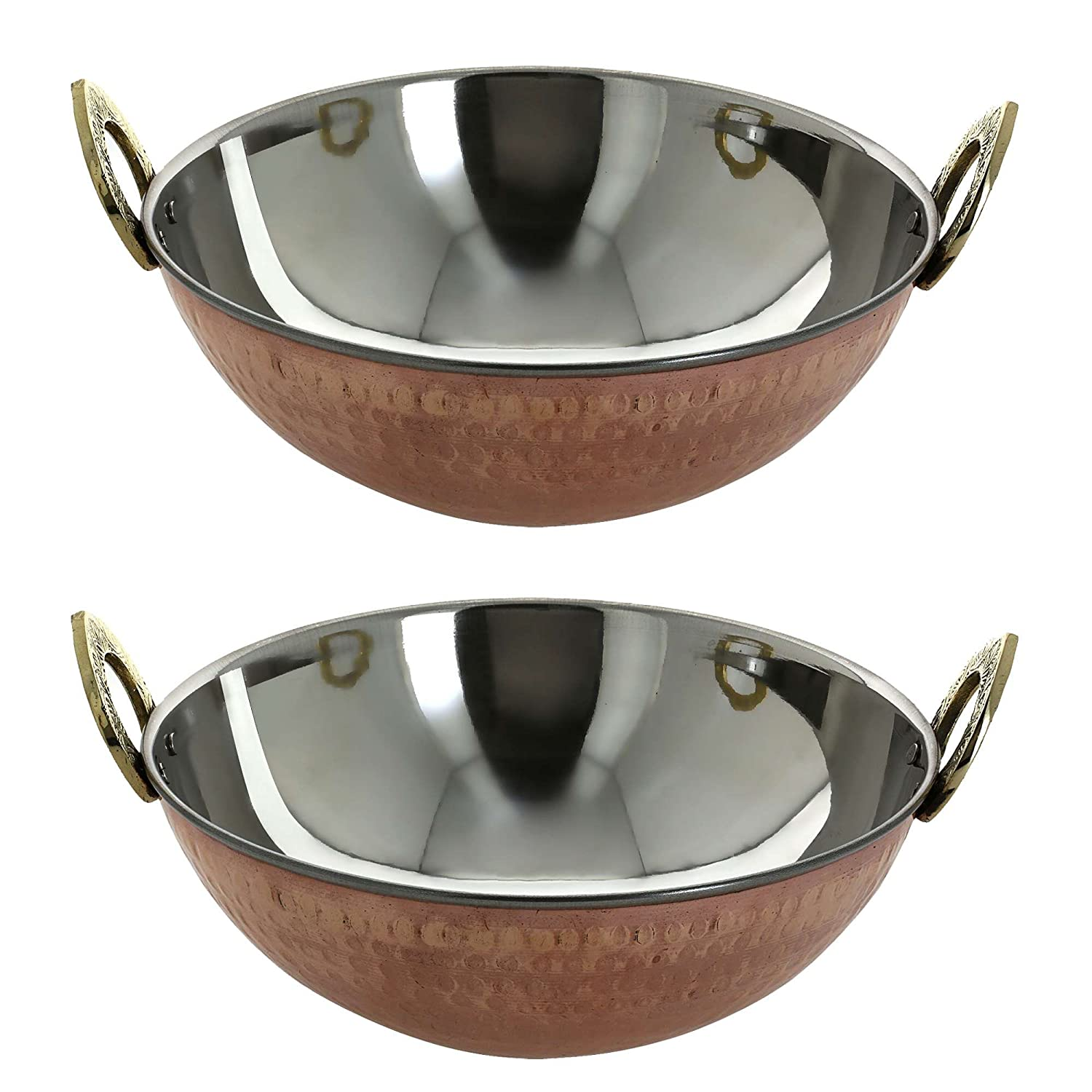 Serving bowl karahi indian recipe serveware set of 2 ShalinCraft MN-karahi_8.25inch