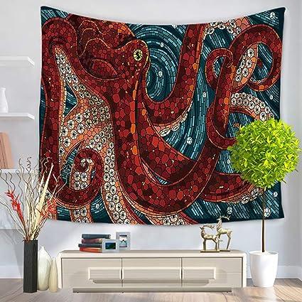 Amazon.com: Sea World Tapestry Fish Dolphin Octopus Tapestry ...