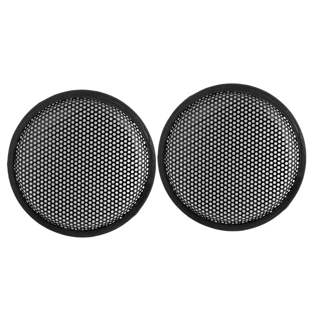 sourcingmap® 8.5' Dia Metal Mesh Round Car Woofer Cover Speaker Grill Black 2 Pcs sourcing map a14031500ux0091