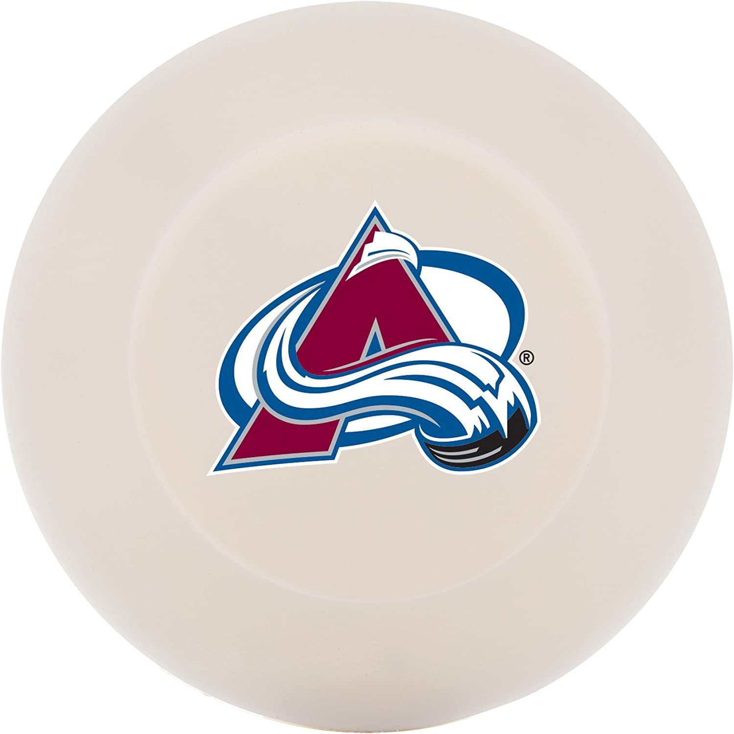 Franklin Sports Colorado Avalanche Street Hockey Puck - Molded PVC Team Logo Puck for Smooth Surfaces - NHL Official Licensed Product : Sports & Outdoors