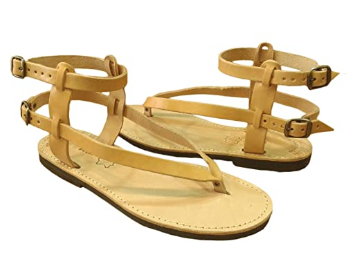 f3c01de2b5070 Amazon.com | Ancient Greek Style Leather Sandals Roman Handmade ...