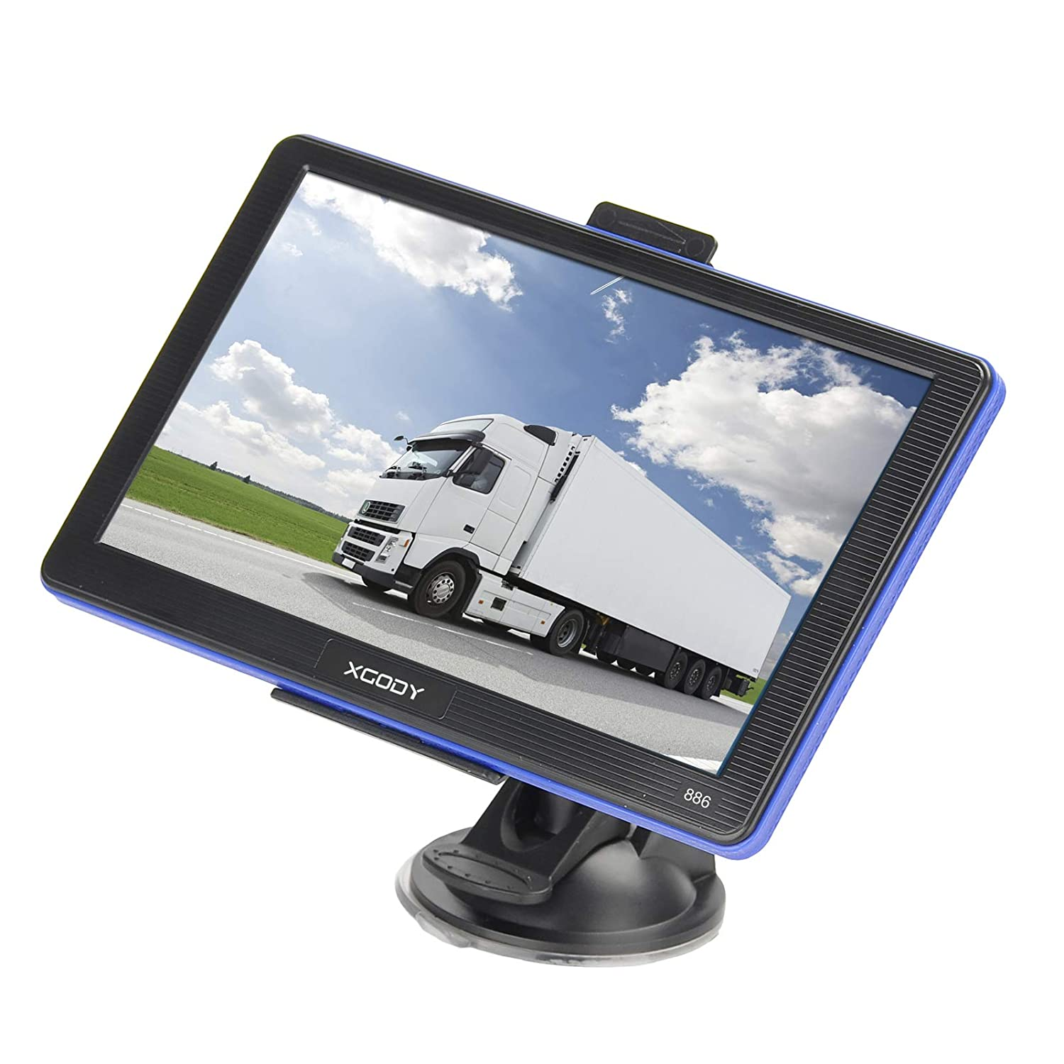 Truck GPS Navigation System Xgody 886 7 Inch Capacitive Touch Screen SAT NAV Navigator for Car with Lifetime US Maps Updated Sunshade Support Speed and Red light Warning Shenzhen Xin Sheng Shang Technology Co. Ltd 886BT with sunshade