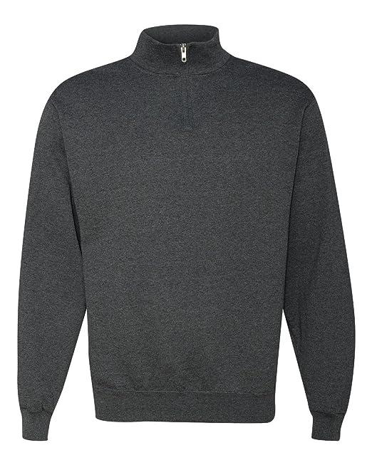 3c9e872afd9 Jerzees Mens NuBlend Quarter Zip Cadet Collar Sweatshirt  Amazon.co ...