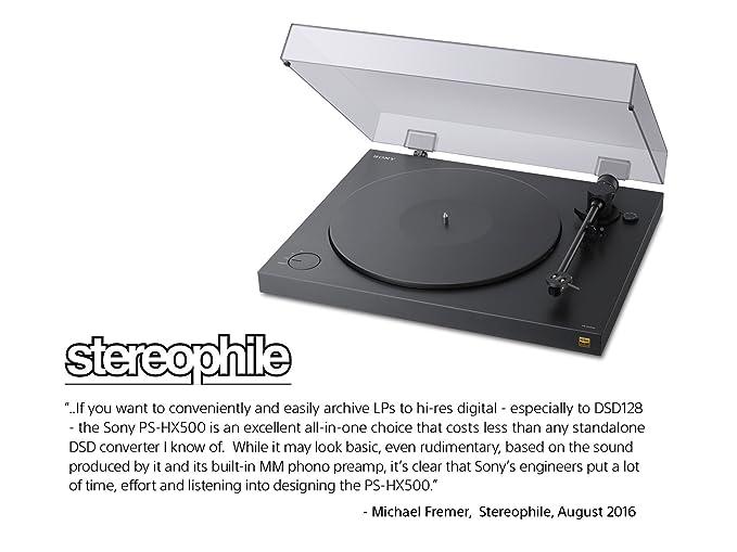 Sony PSHX500 tocadisco - Tocadiscos (Negro, Caucho, USB ...