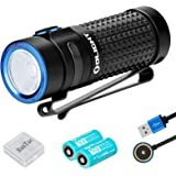 Olight S1R II Mini Torch 1000 lumens/ 138 Meters CW LED Compact EDC Torches Magnetic USB Rechargeable Side-Switch Small Flashlight, with 2 * Rechargeable Battery+BanTac Battery Case