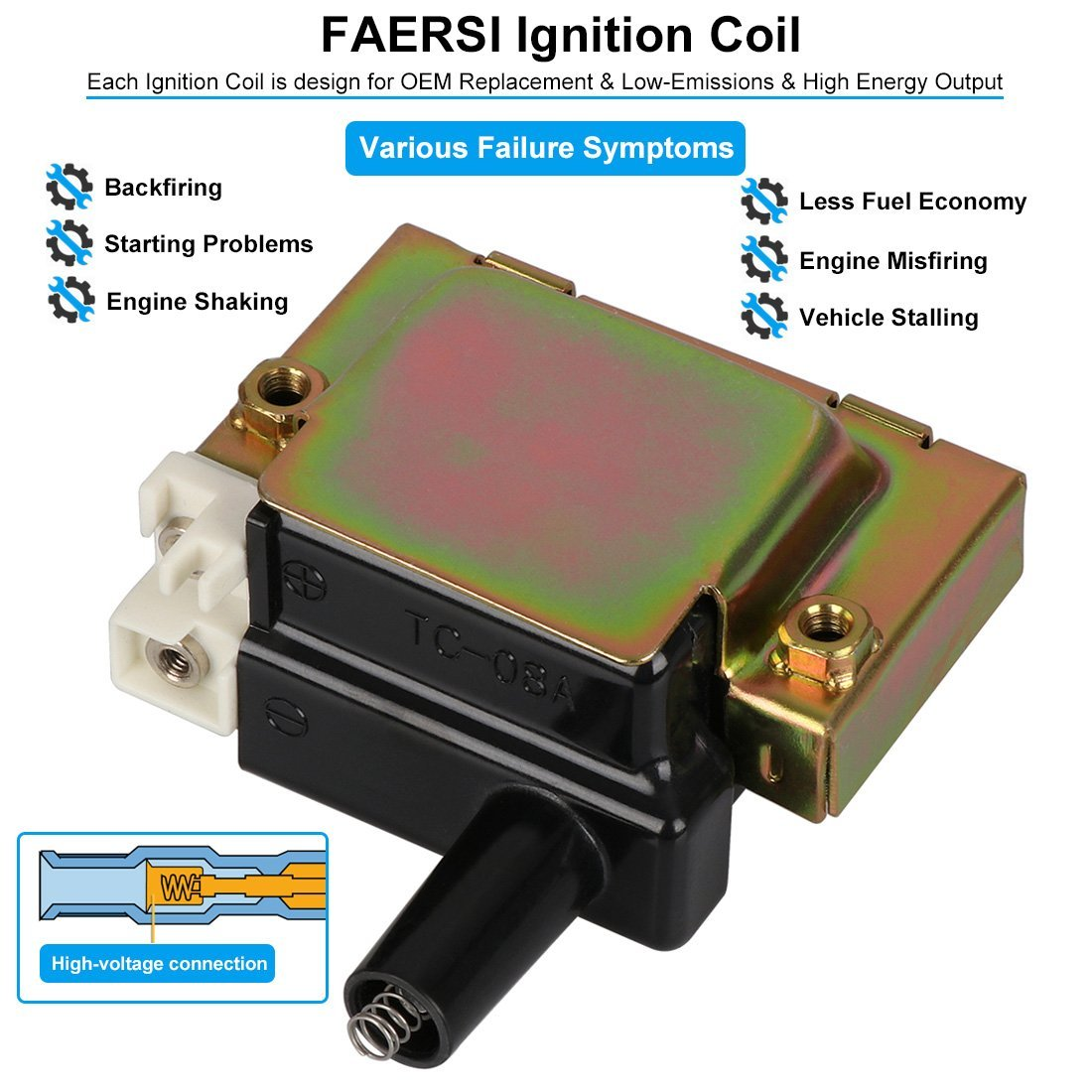 Ignition Coil Pack Of 1 Replaces Oe 30510 Pt2 006 30500 1992 Honda Prelude Paa A01 For 97 00 Acura Cl 92 01 Integra 18l 96 02 Accord 22l