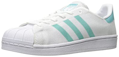 64c45e7e52e8 adidas Originals Women s Shoes Superstar Fashion Sneakers, White Easy  Mint White, (