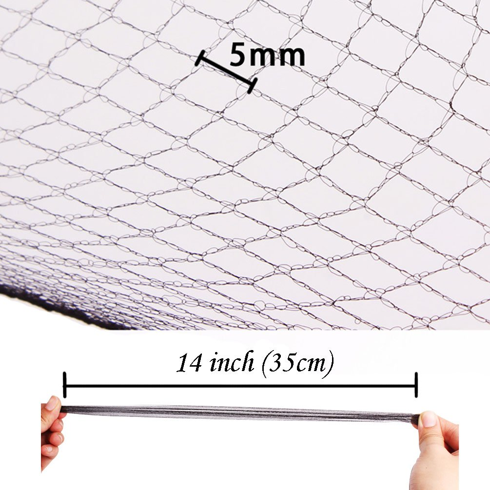 Hair Nets Pack of 20 Elastic Edge Mesh Disposable Invisible Hairnet 8 inch /£/¨Black