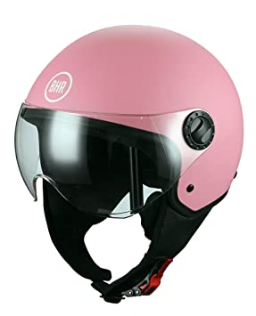 BHR 48422 - Casco Demi-Jet, color rosa mate, talla S (55