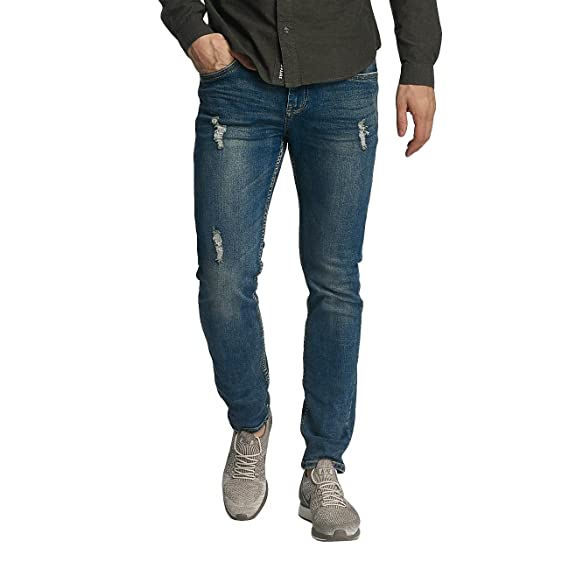 Sublevel Men Jeans/Slim Fit Jeans Destroyed Look Blue W 32 L 32