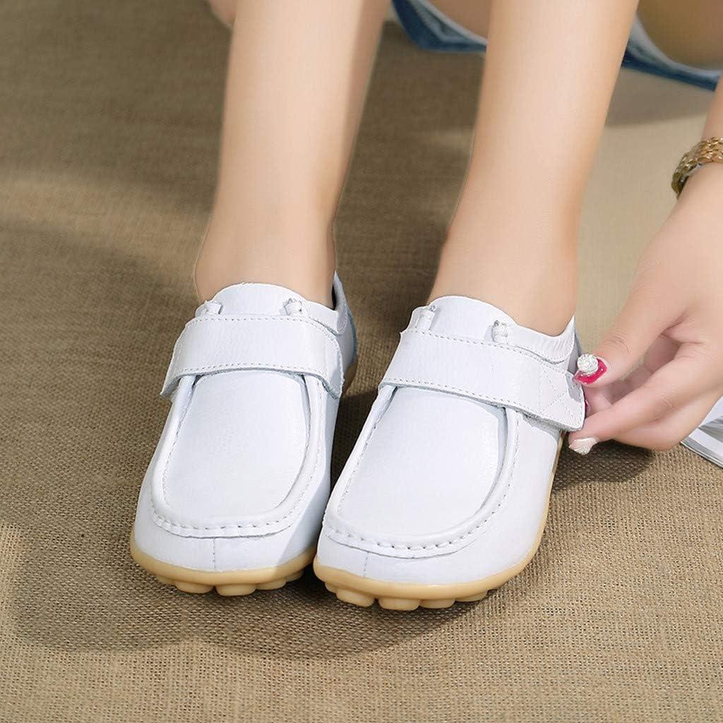 Mocassins Femme Chaussures de Travail,Overdose Confortable Loafers Plate Casual Bateau Chaussures de Ville en Scratch
