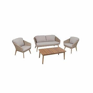 Greemotion 128637 Rattan Lounge Sitzgruppe Murcia Loungemöbel Set 4 Teilig Für  Garten U0026 Terrasse