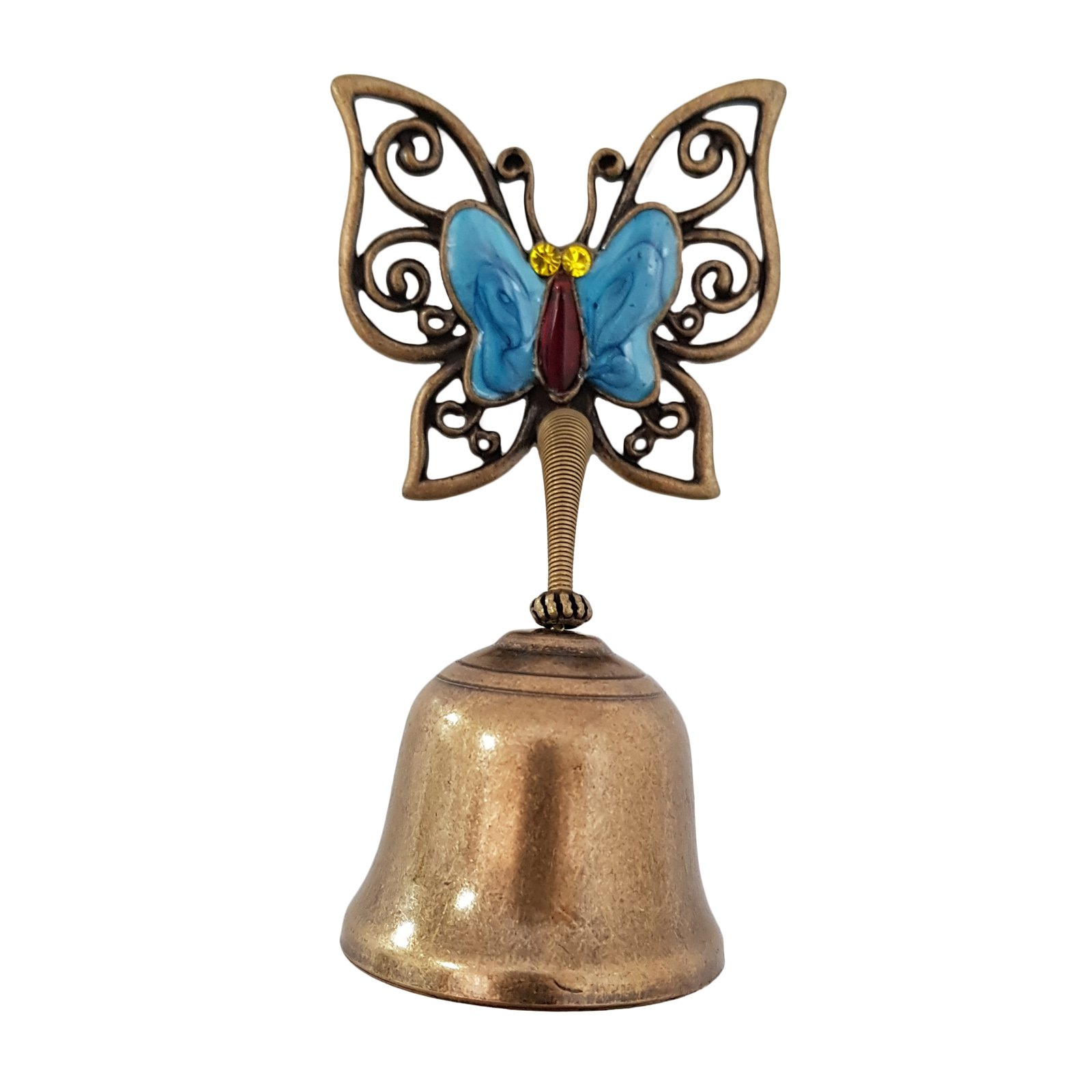 Vintage Butterfly Springy Shopkeepers Door Bell Store Entry Door Chime Compact & Lightweight Unique Design Home Decoration (Blue)