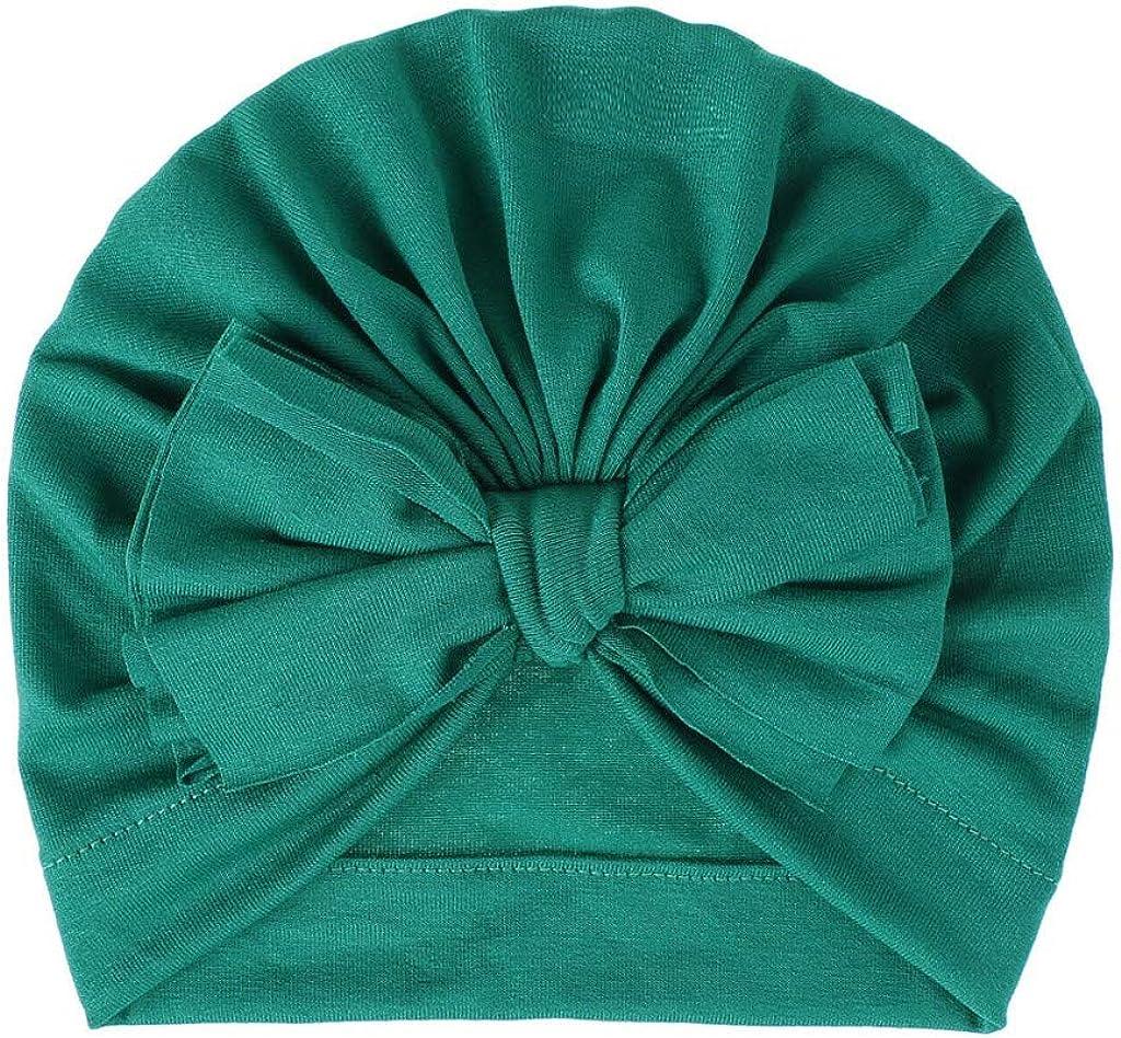 yhgpom Unisexe Bonnet B/éb/é Fille Gar/çon Enfant Naissance Nouveau-N/é Turban Bonnet Indien Foulard Chapeau Torsad/é Beanie Cadeau B/éb/é Fille Gar/çon Enfant Headwear Multicolore